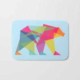 Fractal Bear - neon colorways Bath Mat