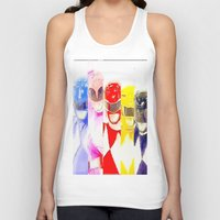 power rangers Tank Tops featuring Power Rangers by americanmikey