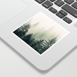 Foggy Pine Trees Sticker