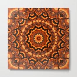 Africa sunset 3D kaleidoscope Metal Print