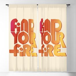 Find your fire no2 Blackout Curtain