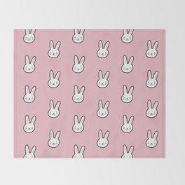Cute Bunny Pattern (Pink) Throw Blanket
