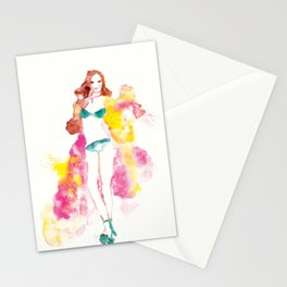 Rainbow Fashion Stationery Cards