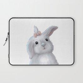 White Rabbit Girl isolated Laptop Sleeve