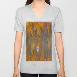 Mexican Flame Agate Unisex V-Neck