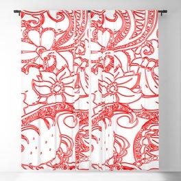 Abstract Batik Blackout Curtain