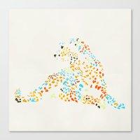 cheetah Canvas Prints featuring Cheetah by leeas