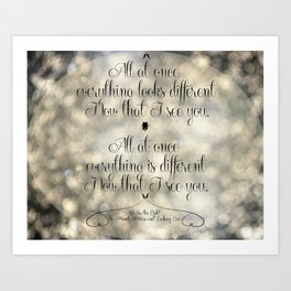 """I See the Light"" by Mandy Moore and Zachary Levi from the movie ""Tangled"" Art Print"