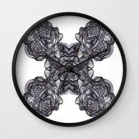 depression Wall Clocks featuring Depression  by Jmele