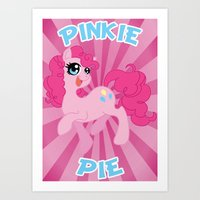mlp Art Prints featuring MLP FiM: Pinkie Pie by Yiji