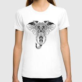 ELEPHANT head. psychedelic / zentangle style T-shirt