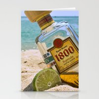 tequila Stationery Cards featuring Tequila! by Brocoli ArtPrint