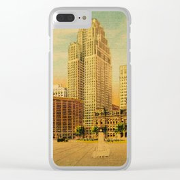 Detroit Dreams II Clear iPhone Case
