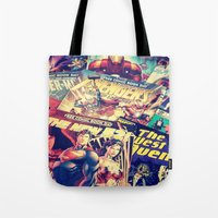 comics Tote Bags featuring Comics by Miss-Lys
