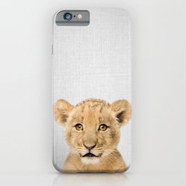 Baby Lion - Colorful iPhone Case