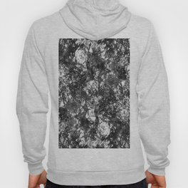 Moon Rock - Abstract, metallic silver textured lunar pattern Hoody
