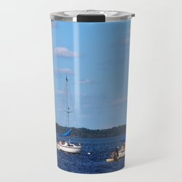 Summer On The Lake Travel Mug