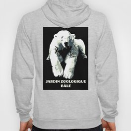 Vintage vector Zoo ad Basel polar bear Hoody