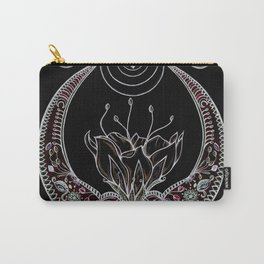 Moon Flower at Midnight in Black and Color Carry-All Pouch