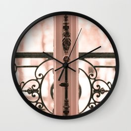 Paris in Blush Pink III Wall Clock