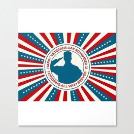 Happy Veterans Day 3 Canvas Print