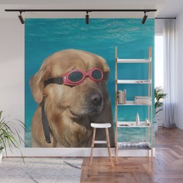 Swimmer Dog Wall Mural