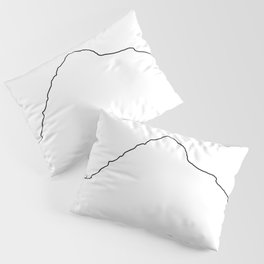 K2 Art Print / White Background Black Line Minimalist Mountain Sketch Pillow Sham