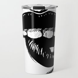 Biting Lip by zombiecraig Travel Mug