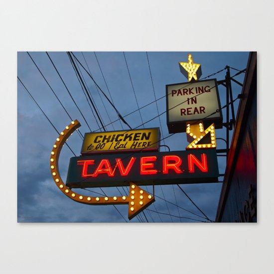 Chicken to go Canvas Print