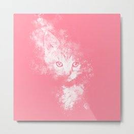 abstract young cat wspw Metal Print
