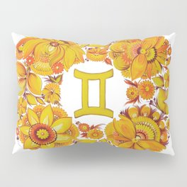 Gemini in Petrykivka Style (without artist's signature/date) Pillow Sham