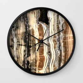 Creamy Caramel and Chocolate Fudge Marble Pattern Wall Clock