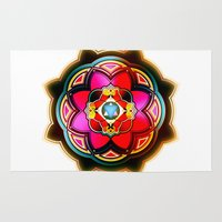 sacred geometry Area & Throw Rugs featuring Sacred by Sircasm