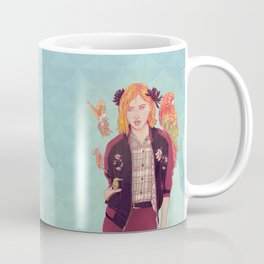 Blue Magnolia Lady Coffee Mug