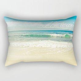 Hawaii Graphic Tropical Beach Decor Rectangular Pillow