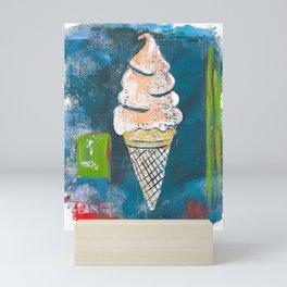 Peach Ice Cream Mini Art Print