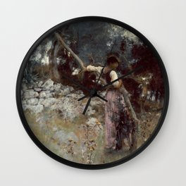 A Capriote by John Singer Sargent,1878 Wall Clock