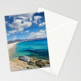 Agios Prokopios beach in Naxos island, Greece Stationery Cards