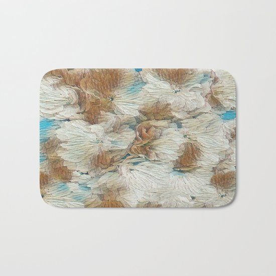 Earthy Floral Abstract Bath Mat