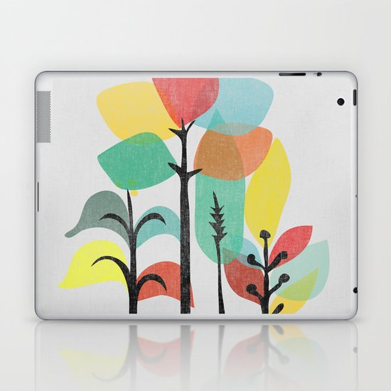 Tropical Groove (gray) Laptop & iPad Skin