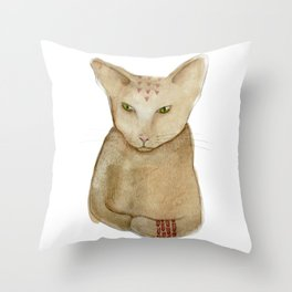 Totem Kitteh 1 Throw Pillow