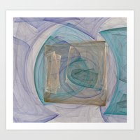 square Art Prints featuring Square  by Christy Leigh