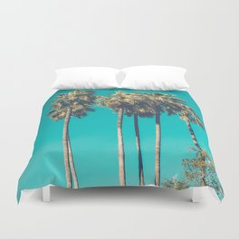 A Few Turquoise Palms Duvet Cover