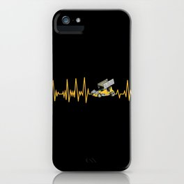 Heartbeat Sprint Car Racer Driver Gift iPhone Case