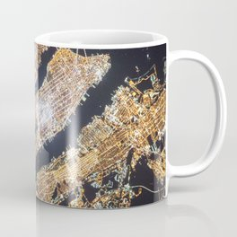 New York City, Map in Gold Coffee Mug