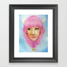 Bubblegum Queen Framed Art Print