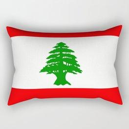 Flag of Lebanon Rectangular Pillow