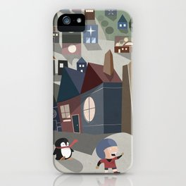 A Boy and his Penguin iPhone Case