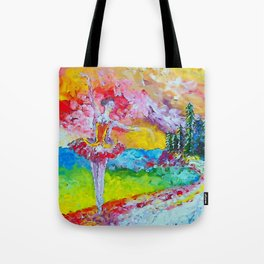 The pursuit of her dream remix Tote Bag