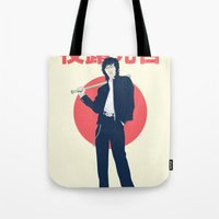 league Tote Bags featuring Minor League by WITHSTAND